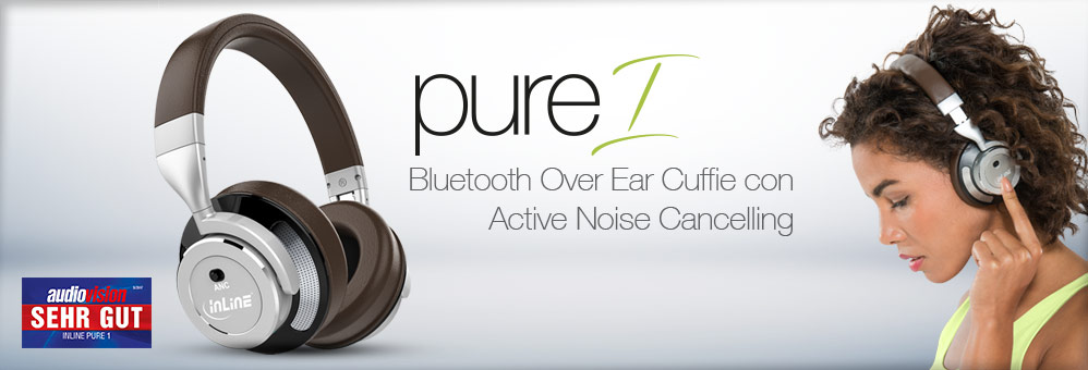 InLine PURE 1 - Bluetooth Cuffie con Active Noise Cancelling