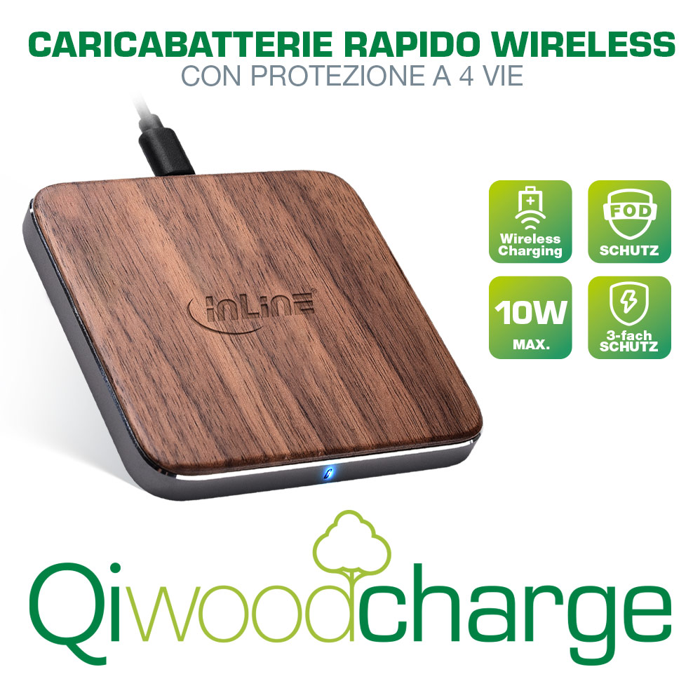InLine Qi woodcharge