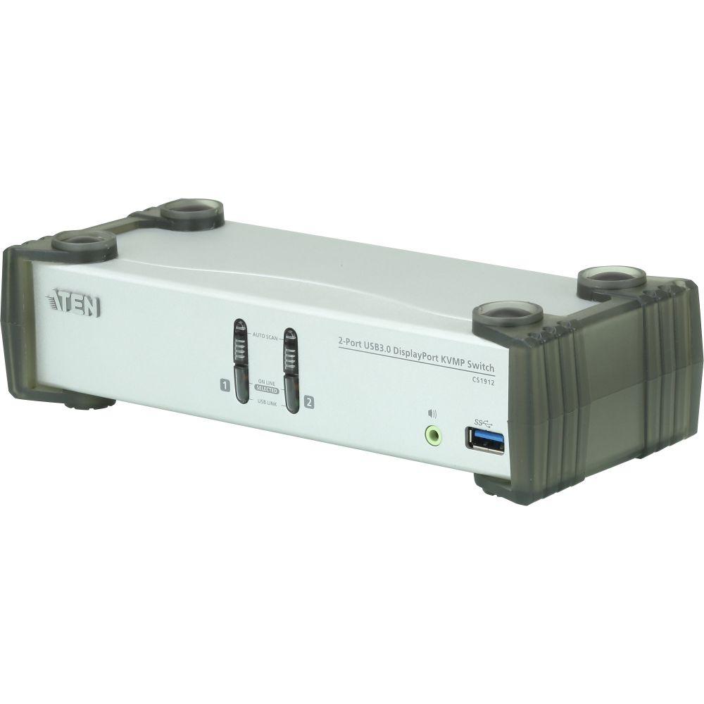 Aten CS1912, KVMP Switch DisplayPort a 2 porte USB 3.0, UHD