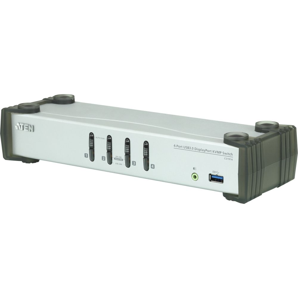 Aten CS1914, KVMP Switch DisplayPort a 4 porte USB 3.0, UHD