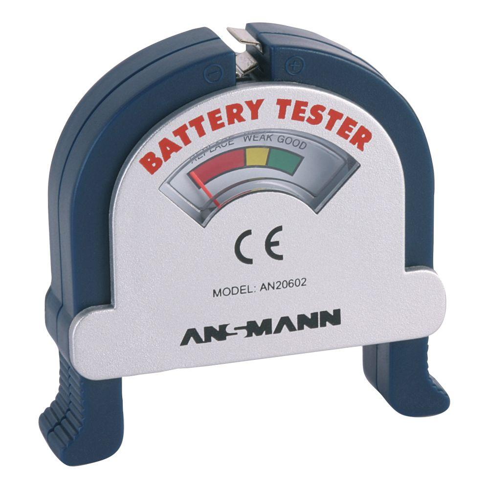 Tester batterie universale, 1,5V, 9V e bottone, lettura analogica (Ansmann 4000001)