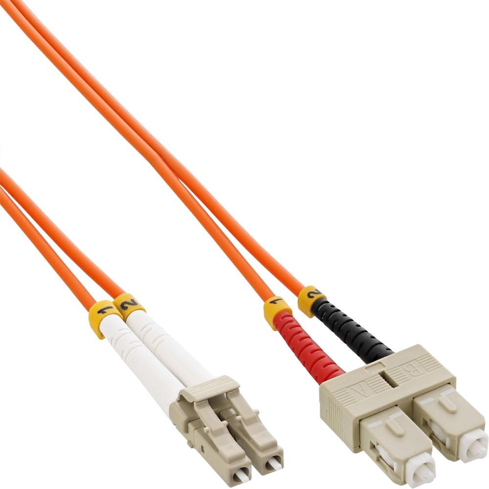 InLine® Cavo Duplex, LC/SC 625/125µm, Fibra Ottica OM1, 10m
