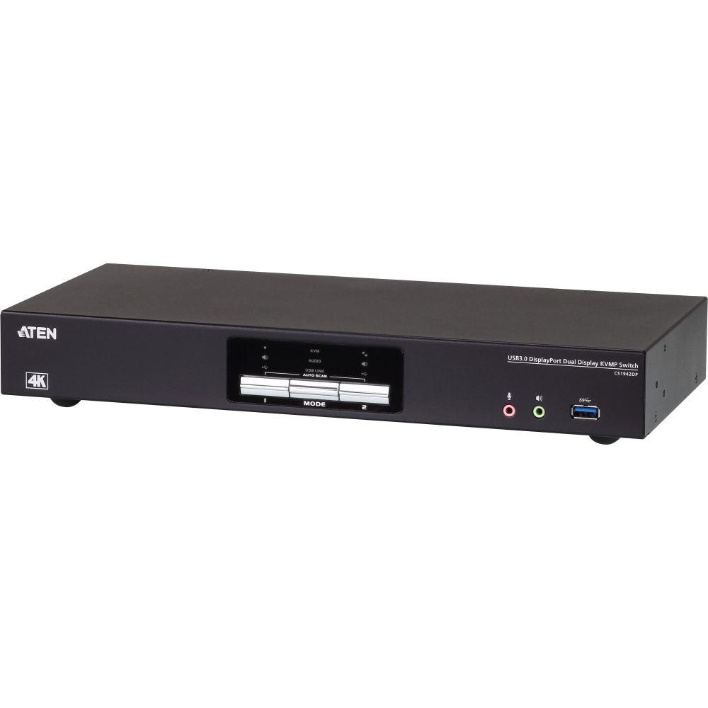 ATEN CS1942DP Switch KVMP schermo doppio USB 3.0 4K DisplayPort e Audio a 2 porte