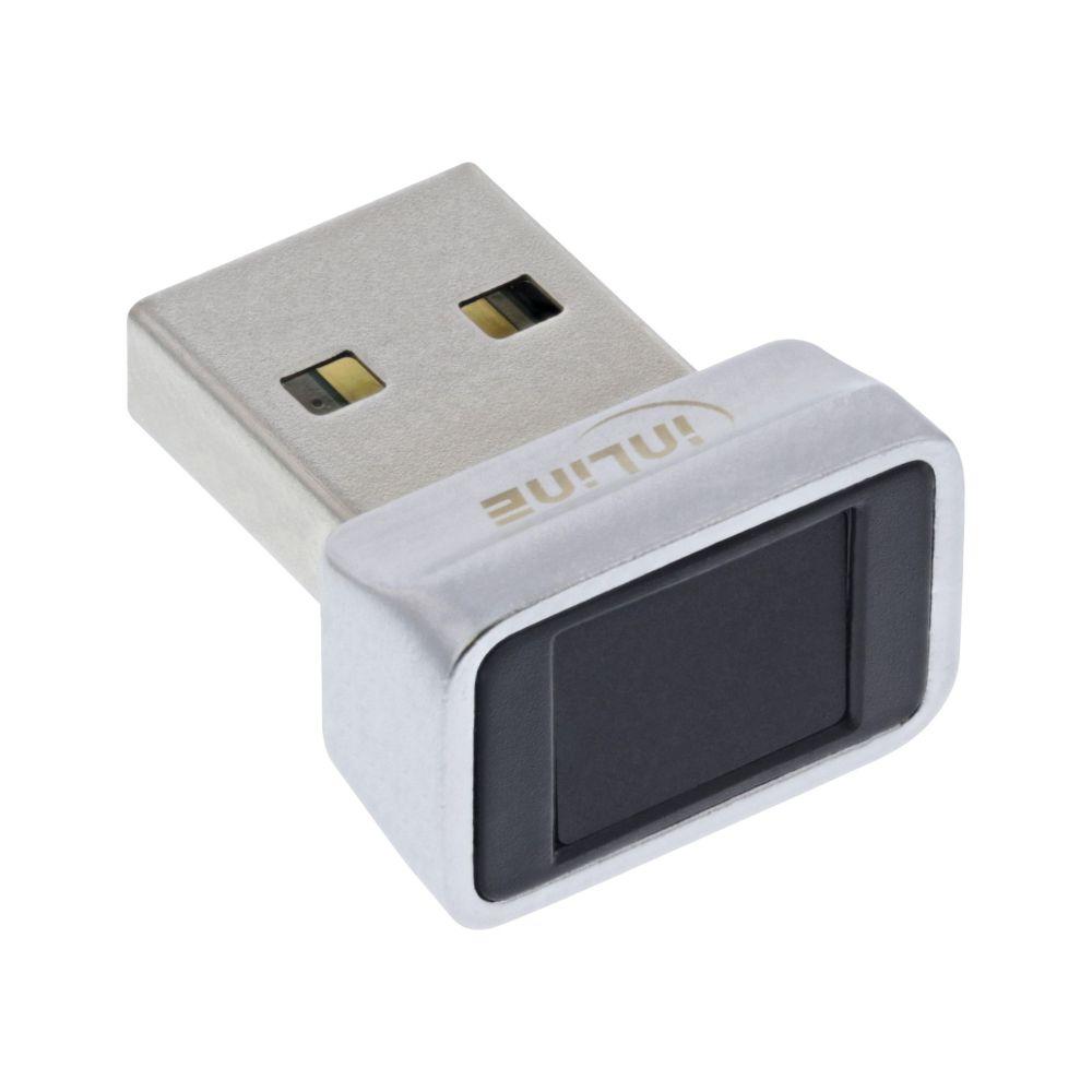 InLine® USB Scanner impronte digitali, compatibile con Windows Hello