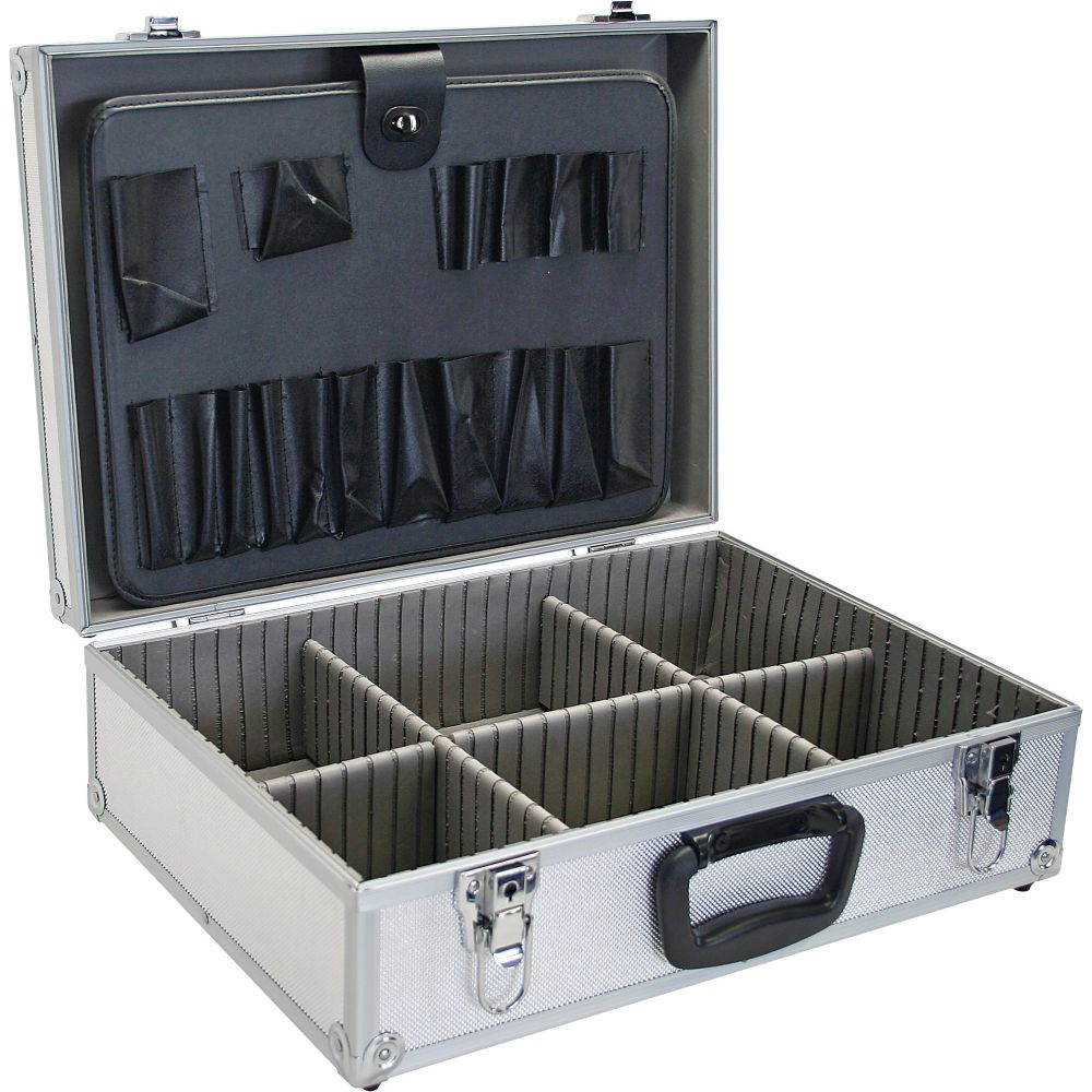 InLine® Valigetta porta attrezzi (vuota), alluminio, con serratura, Silver