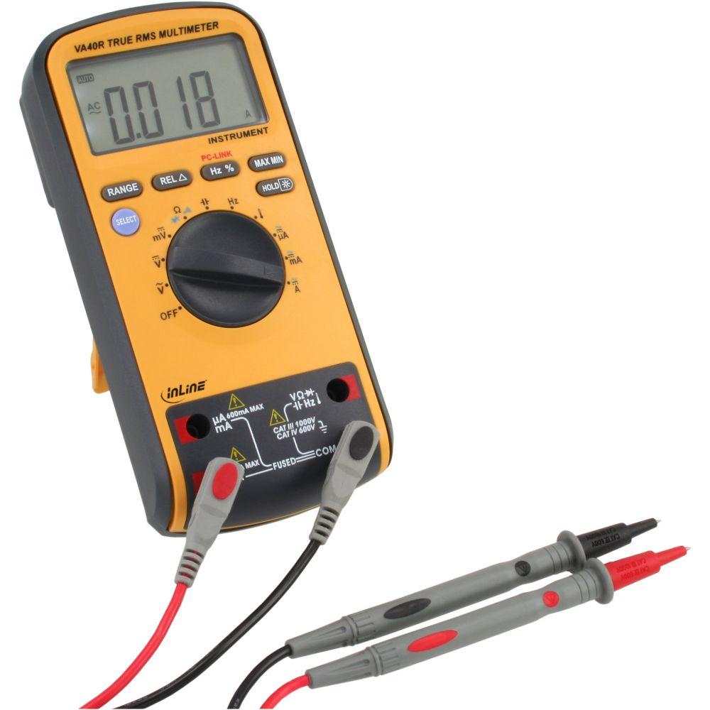 InLine® Multimetro digitale con interfaccia USB per l'acquisizione e la registrazione dei valori di misura su Pc/Notebook