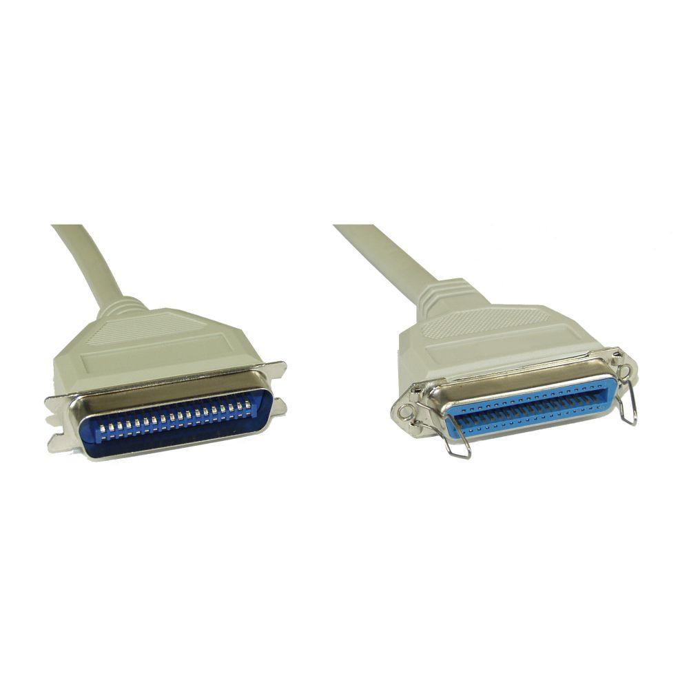 InLine® Cavo seriale, Centronics 36pin M-F, pressofuso, Pin 1:1, 2m