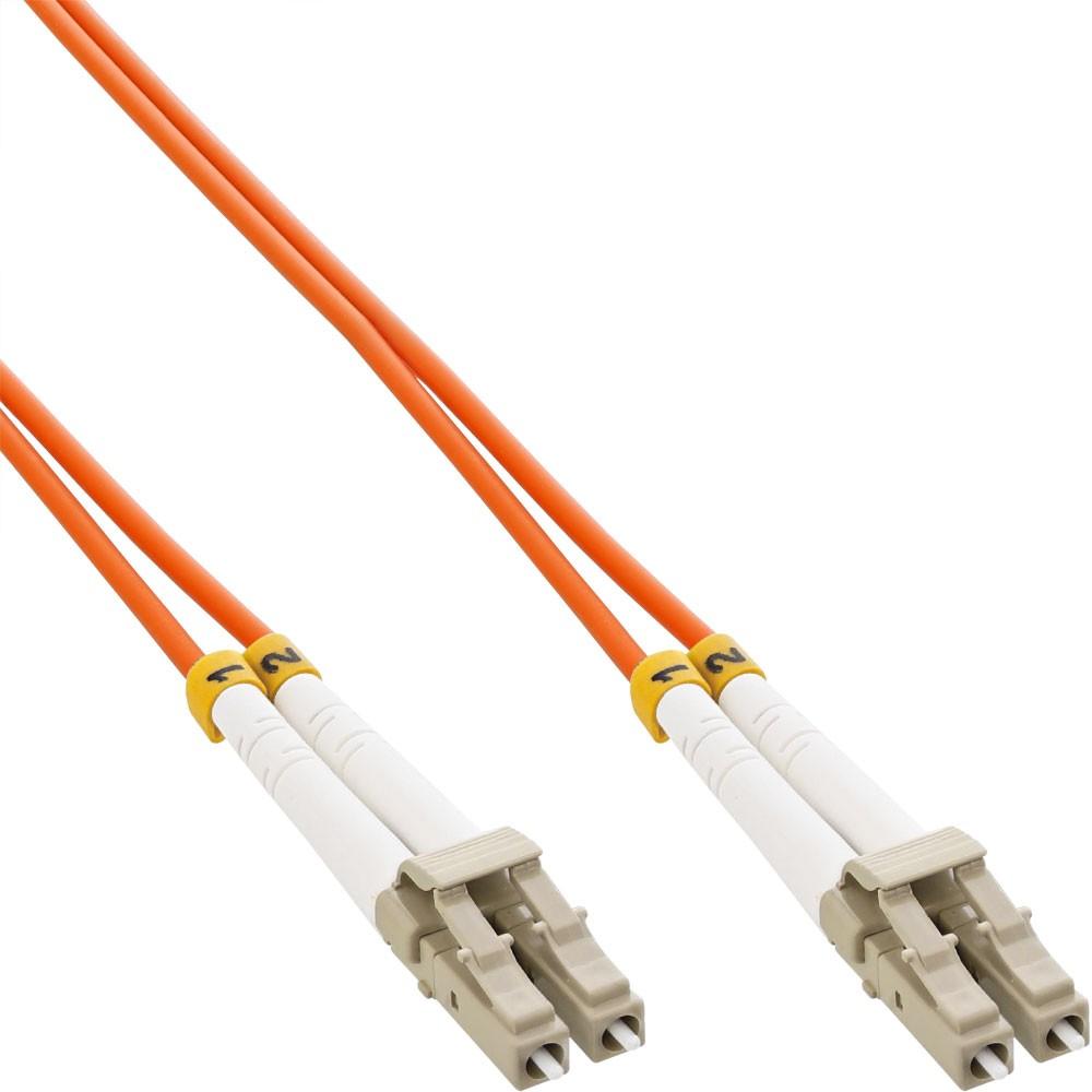 InLine® Cavo Duplex, LC/LC 625/125µm, Fibra Ottica OM1, 3m