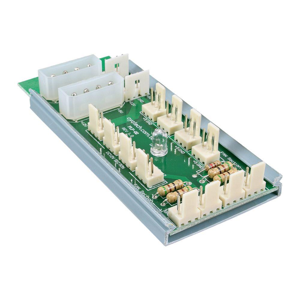InLine® Multi Port Panel, 12 ventole, 3pin, 5-7-12V, Moltiplicatore porte alimentazione