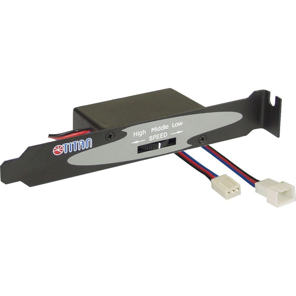 Controllo ventole, potenziometro regolazione velocità, staffa PCI, Titan TTC-SC01