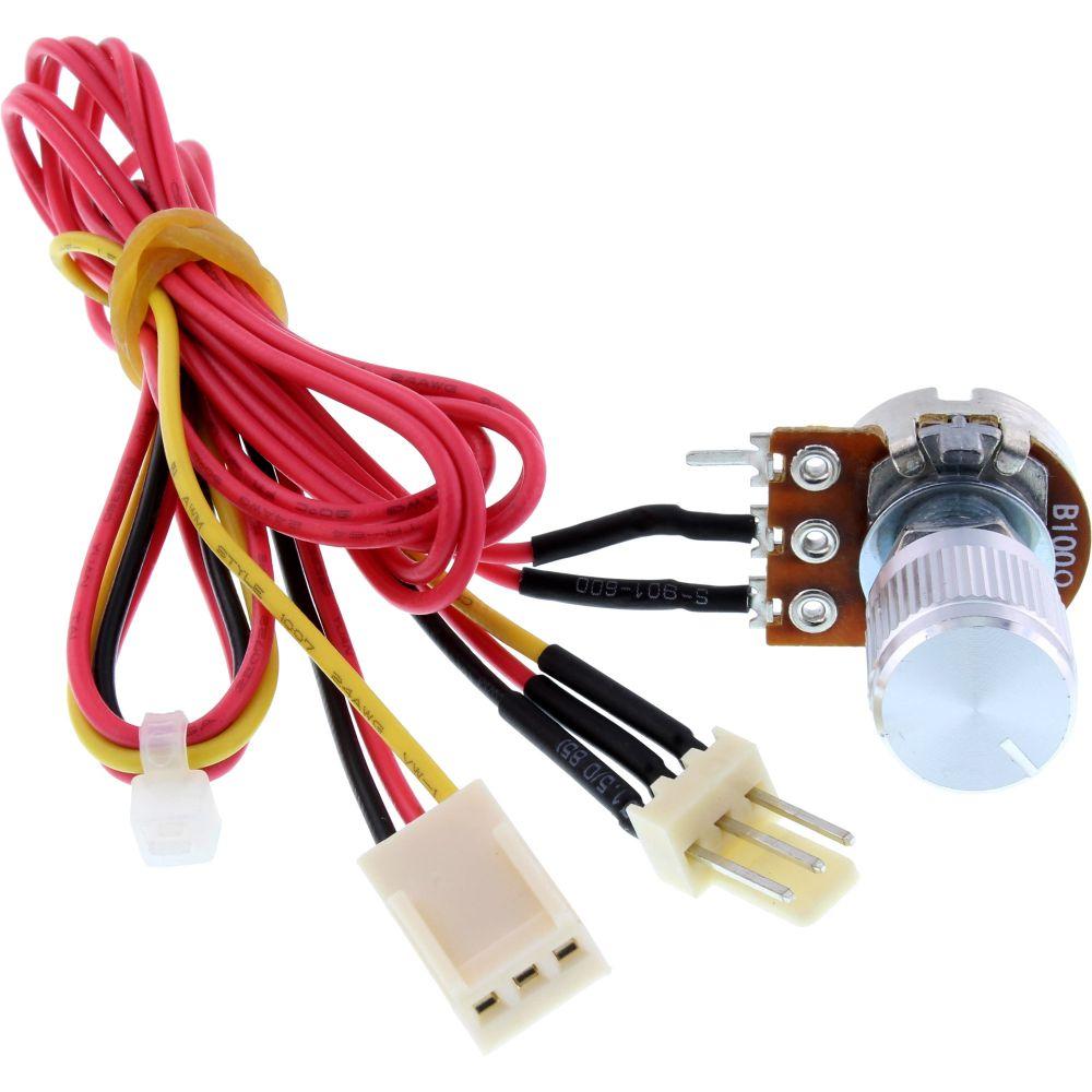 InLine® Controllo ventole, potenziometro regolazione velocità, 3pin, 5-12V