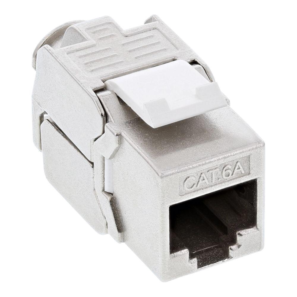 InLine® Snap-In (Keystone), RJ45 femmina / LSA, Cat.6A, STP, per cavi AWG 22- 24