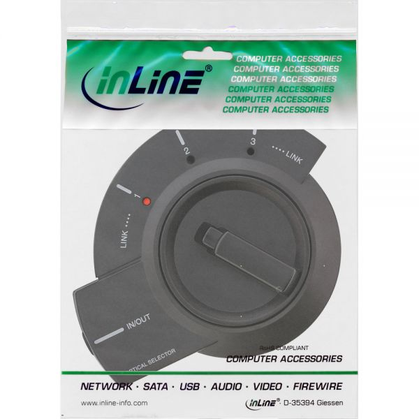Inline toslink switch audio 3 porte selettore manuale for Porte and a 3 ingressi